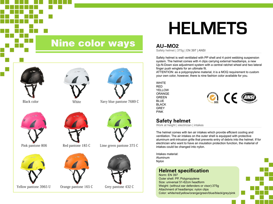 Civil infrastructure worker helmet