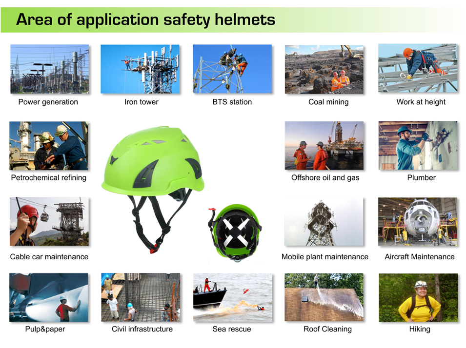 Tree Care Operations worker helmet