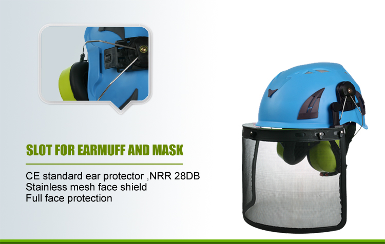 earmuffs and face shield