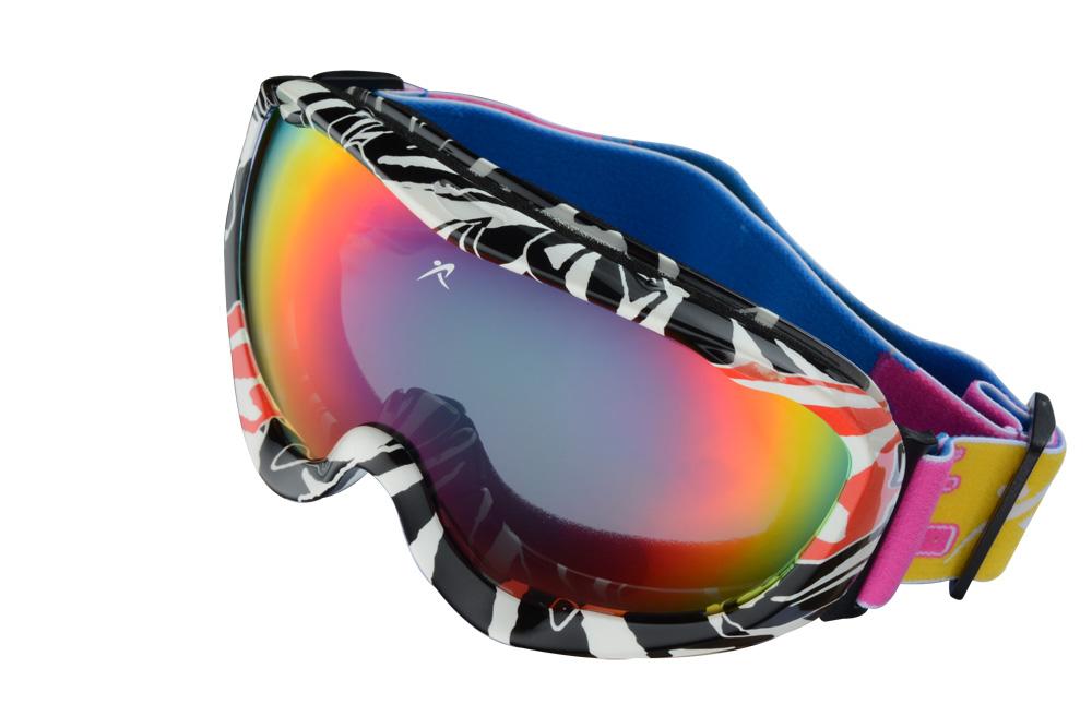 새로운 정품 브랜드 스키 고글 더블 렌즈 안티 안개 큰 구형 전문 ...
