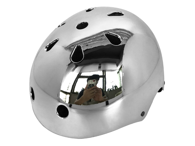 Chrome skate helmets