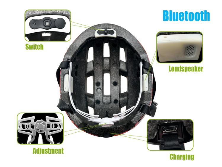 Bluebooth bike helmet