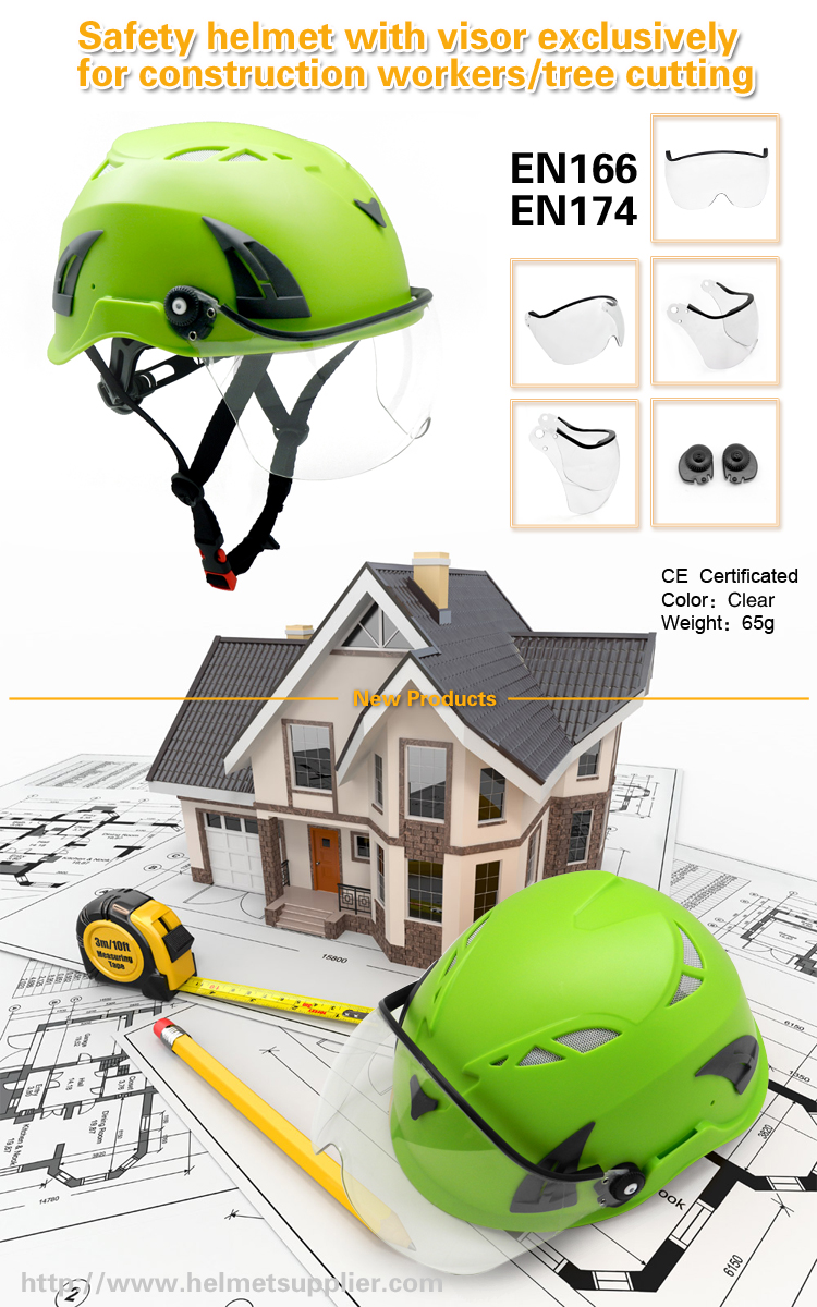 safety helmet with visor