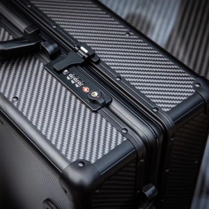 2020 factory supply 100% real carbon fiber trolley luggage suitcase