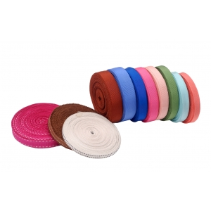 Colourful interchangeable strap for bicycle helmet