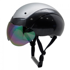 Custom ASTM approved aero short track speed protection skating helmet with top PC cover AU-L002