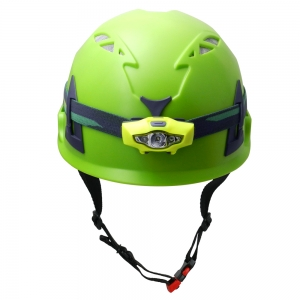 Customized ABS Shell CE Proved Engineering AU-M02Safety Helmet With Lantern with CE approved