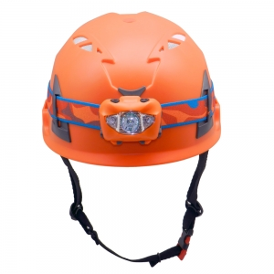 Customized ABS Shell CE Proved Engineering Safety Helmet With Lantern