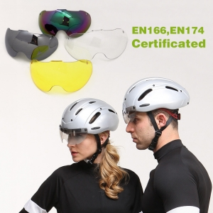 EPS TT bike helmet with goggles, short-tail time trial bicycle helmet, TT Aero track cycling helmet