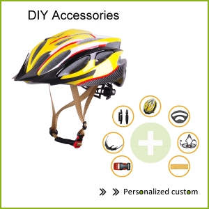 New Inmold mountain Bicycle Helmet AU-B062 With Fully DIY Multicolor Customized Accessories