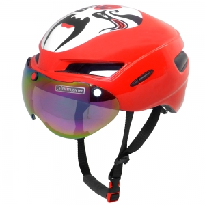 Peking Opera face aero time trial helmet
