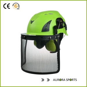Work at height tree climbing workers safety helmet AU-M02 with iron mesh