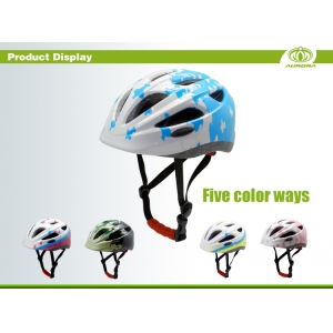 cheap kids bike helmets, AU-C06 with adjustable headlock system, full face kids bike helmet