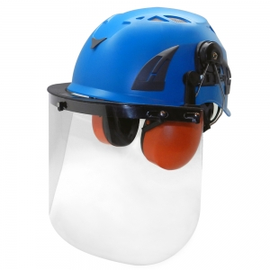industrial safety helmet with PC material faceshield