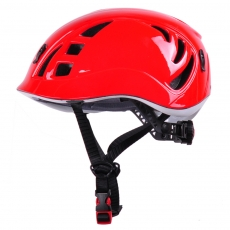 China In-mold lightest climbing helmet, CE en12492 rock helmets italy factory