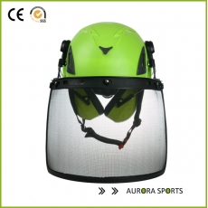 China Protective Safety Helmet AU-M02 climb tree face mask iron mesh helmet factory