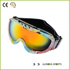 China QF-S709B Anti-fog big spherical professional ski glasses snowboard goggles factory