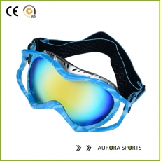 China QF-S733 Volt Cross-country Goggles, Black Stripes Frame, Vermillion Lens factory
