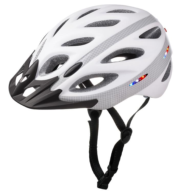 Mountain bike helmet light